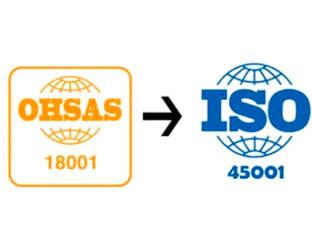 Curso Transición a la nueva ISO 45001:2018 (antigua Ohsas 18001)